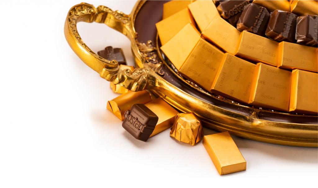 Mix Chocolate Medium Brown Metal Tray