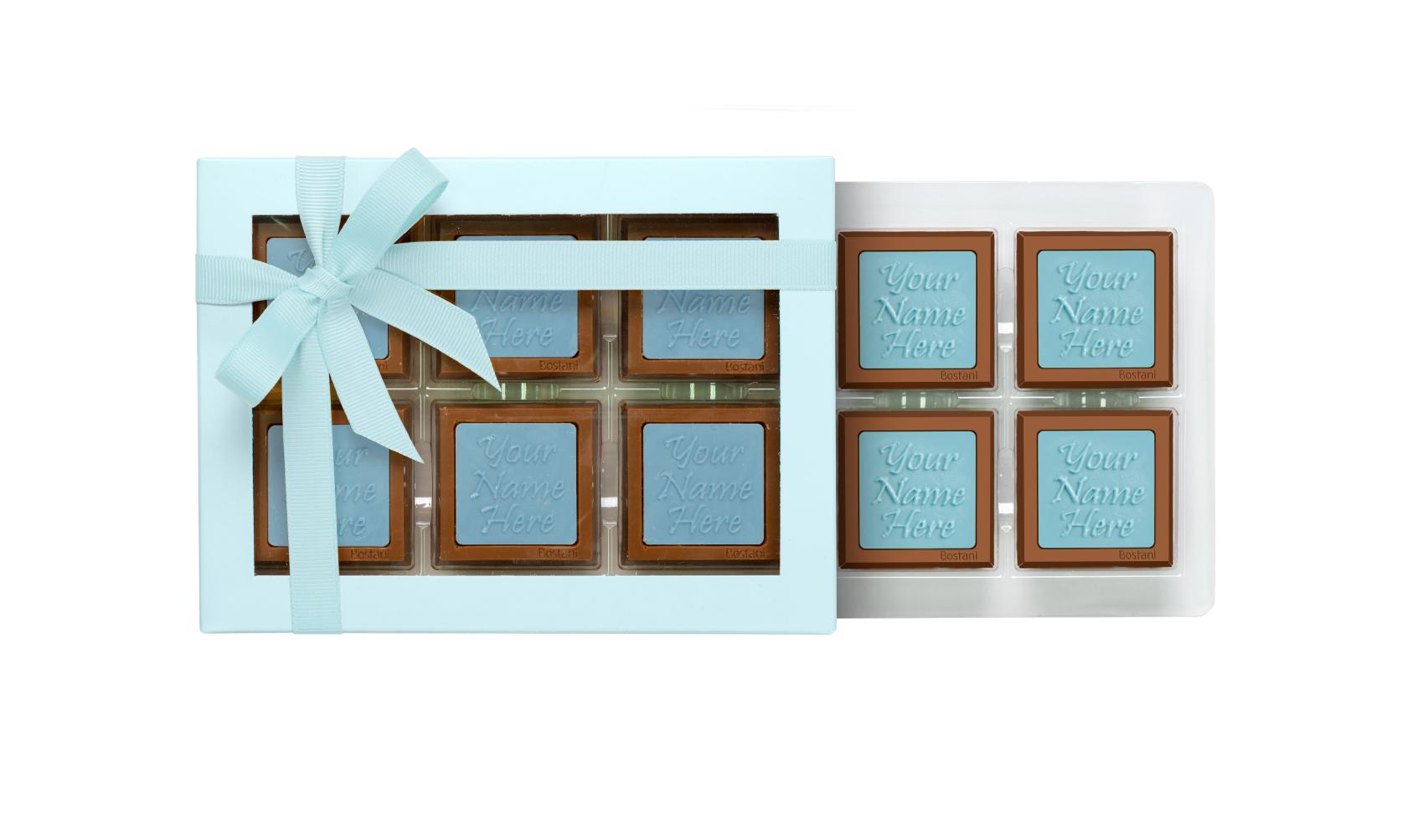 Transparent Box 6 PCS Chocolate Blue
