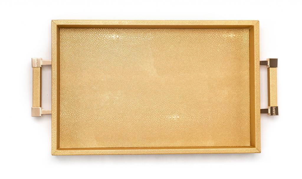 Congratulations Leathered Gold Tray Medium