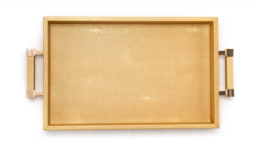 Congratulations Leathered Gold Tray Small