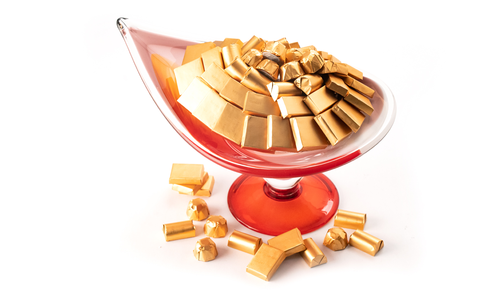 Mix Chocolate Red Lamp Italian Handmade Dish