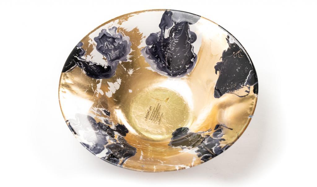 Get Well Soon Gold & Blue & Black Dish