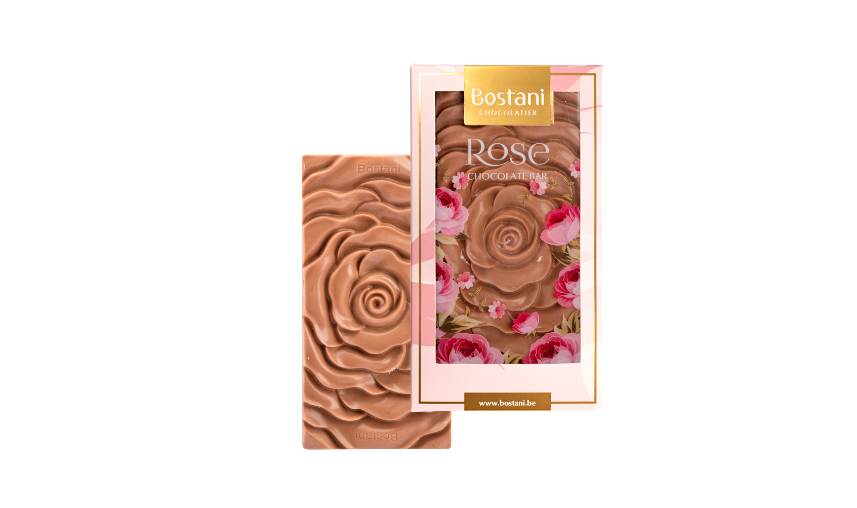 Rose Bar Gold Chocolate Almond 100g