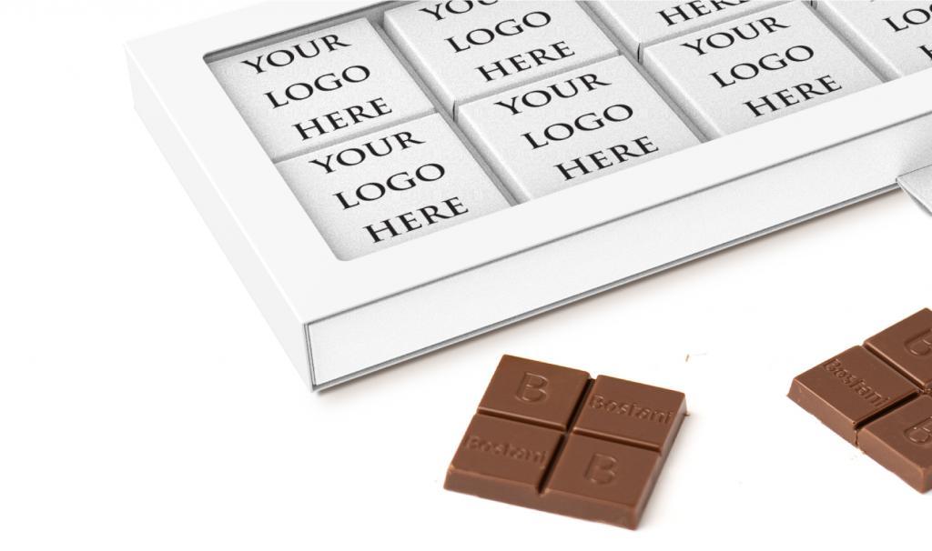 علبة الشوكولا الرقيقة البيضاء 24 حبة