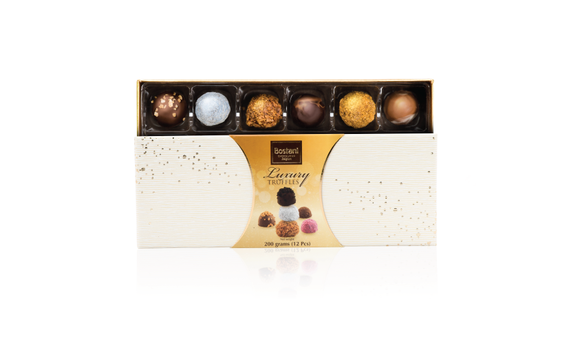 12 PCS Of Truffles Chocolate in White Box