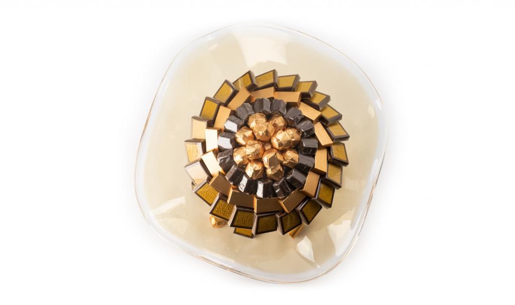 Get Well Soon Curvy Gold Italian Handmade Dish