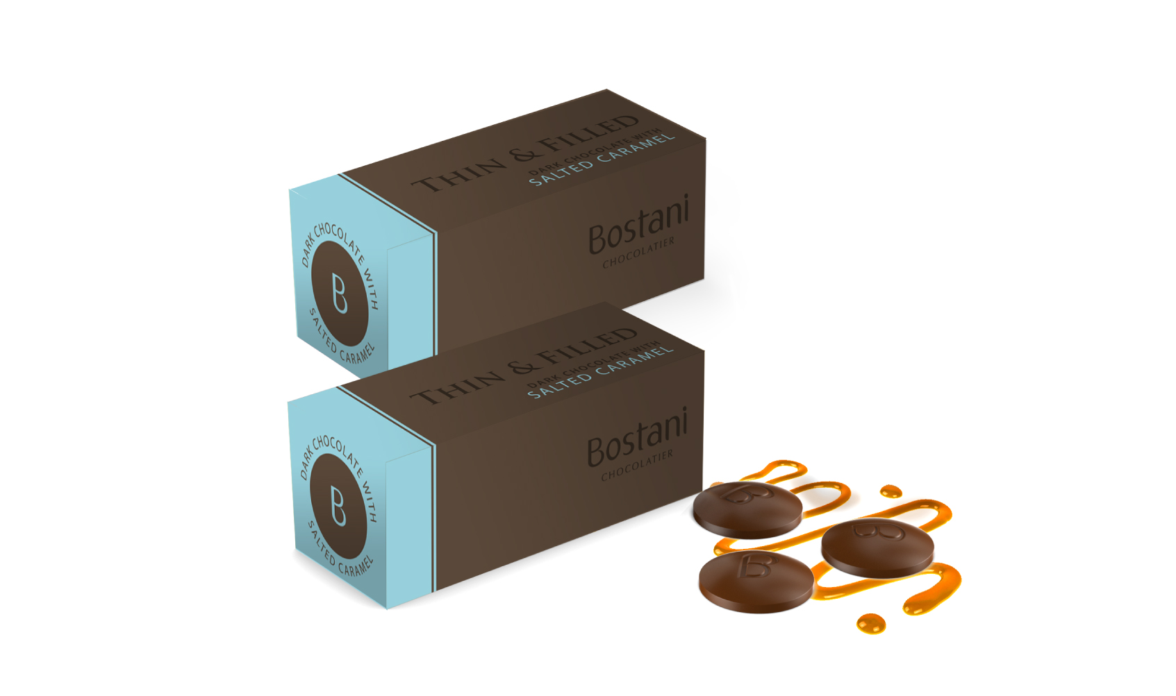 Dark Chocolate With Salted Caramel