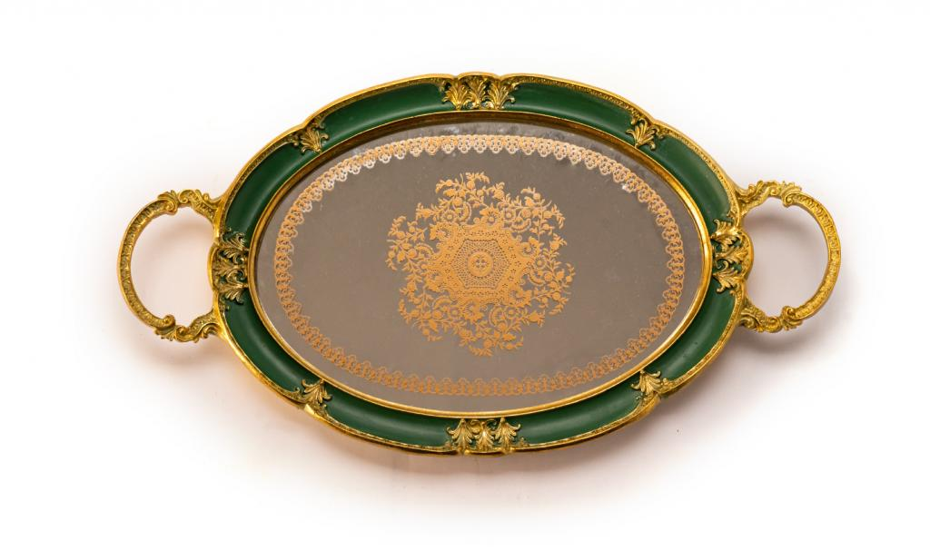 Mix Chocolate Small Green Metal Tray