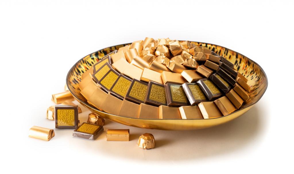 Get Well Soon Gold & Black Dish