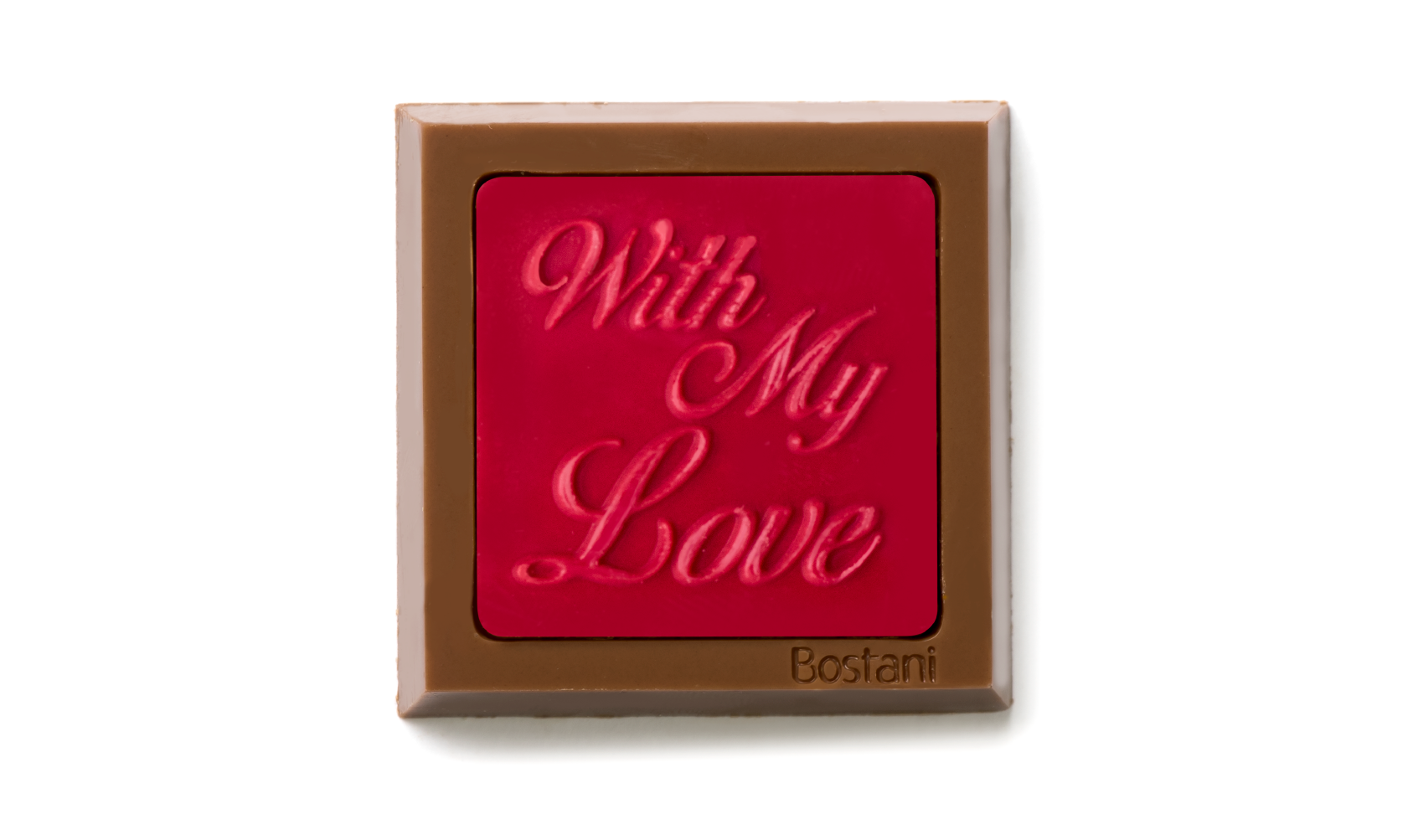 With my love square Red Color 100g