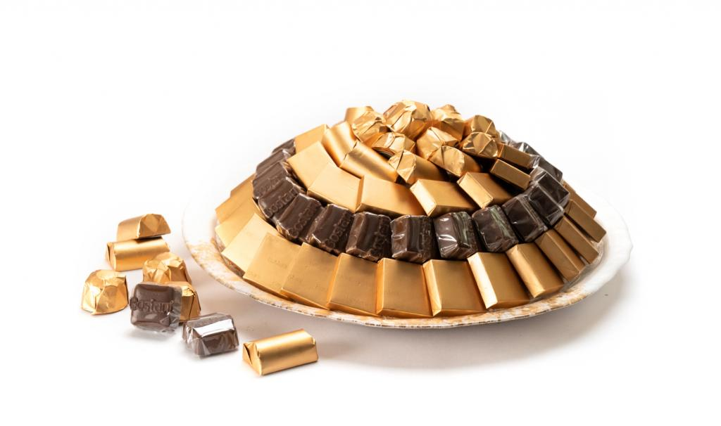 Mix Chocolate Gold & White Dish Small