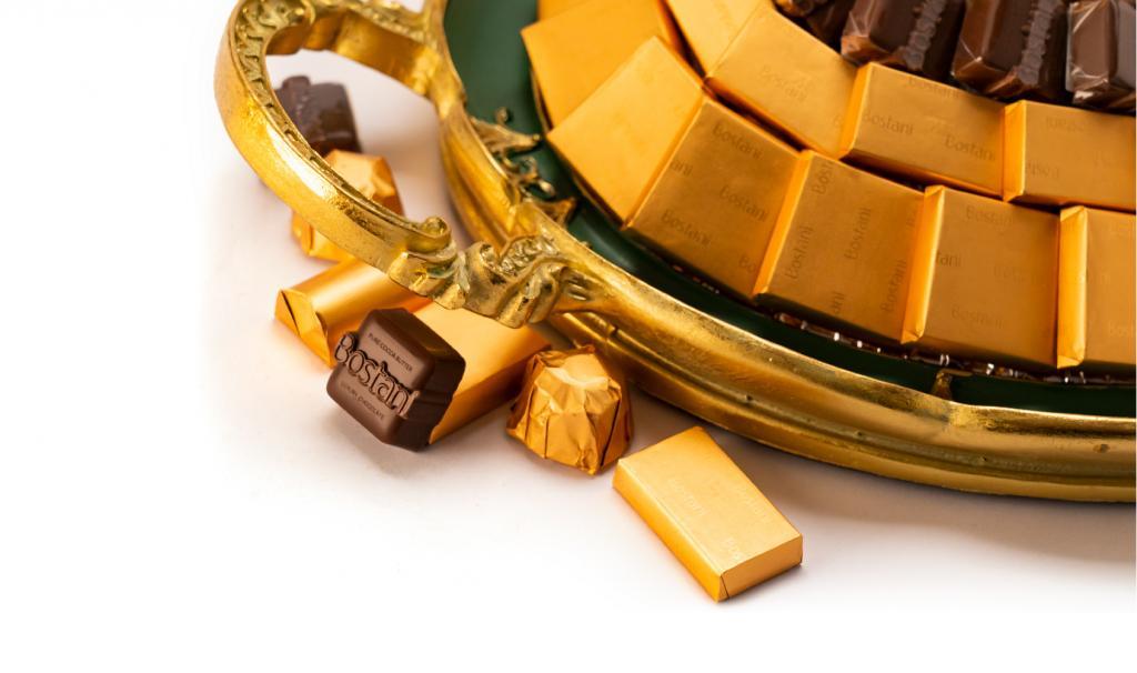 Mix Chocolate Medium Green Metal Tray