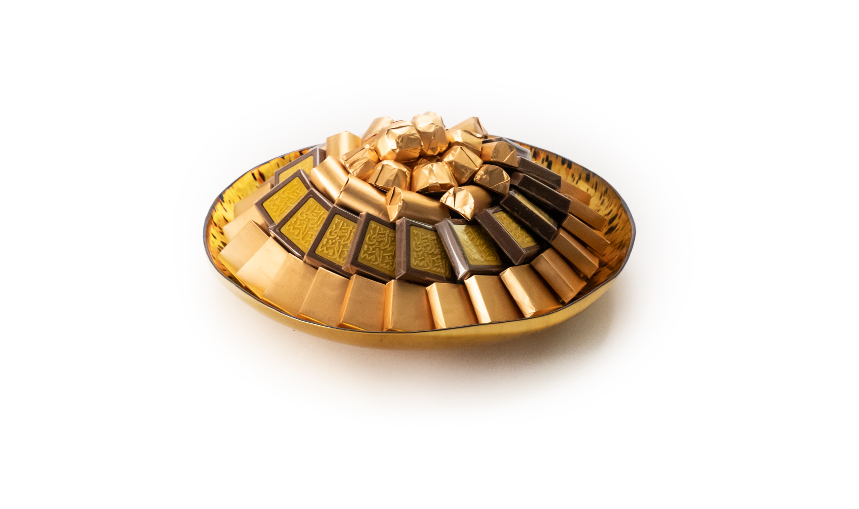 Get Well Soon Gold & Black Dish Small