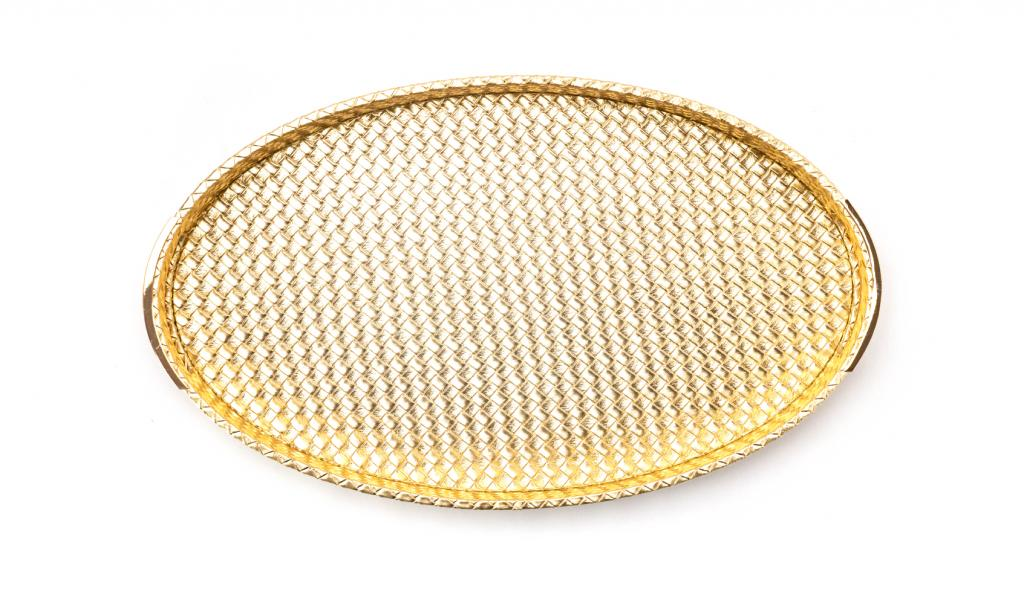 Get Well Soon Tray Small Gold Oval