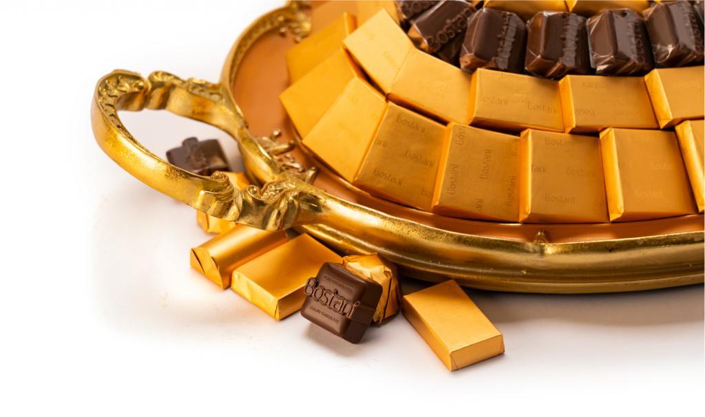 Mix Chocolate Medium Orange Metal Tray