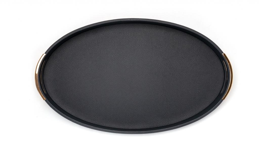 Get Well Soon Tray Medium Dark Blue Oval
