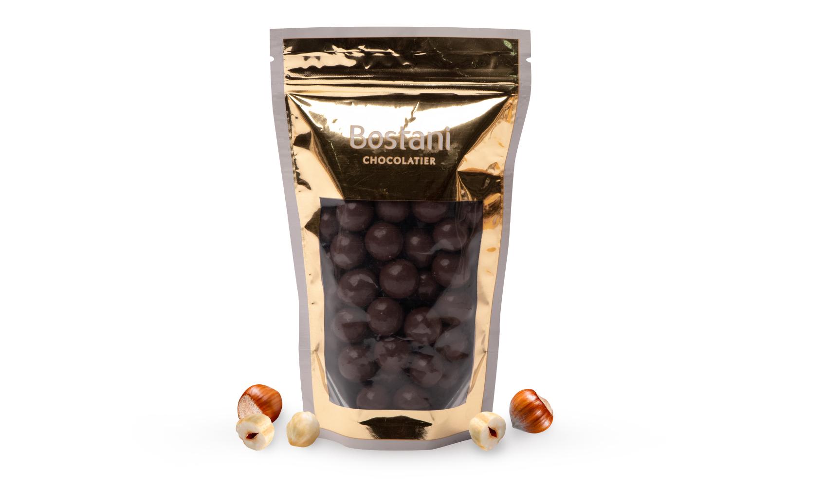 Hazelnuts Drajeh with dark Chocolate