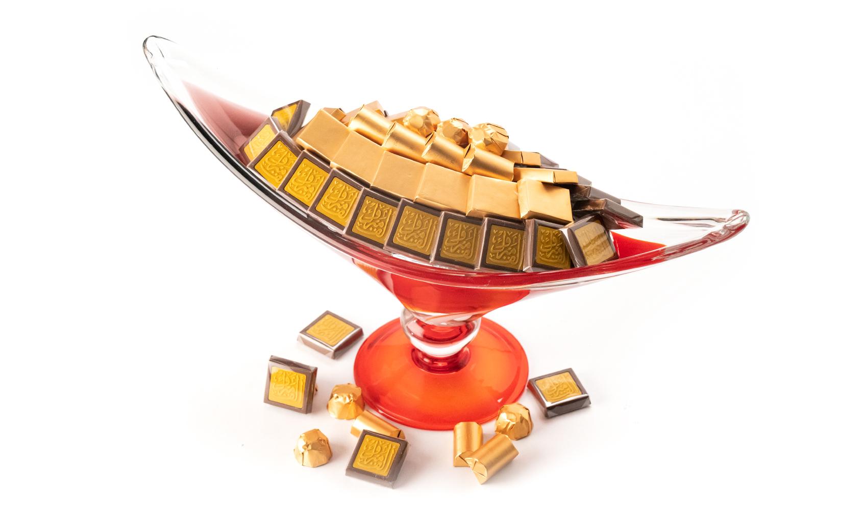 Congratulations Long Red Italian Handmade Dish