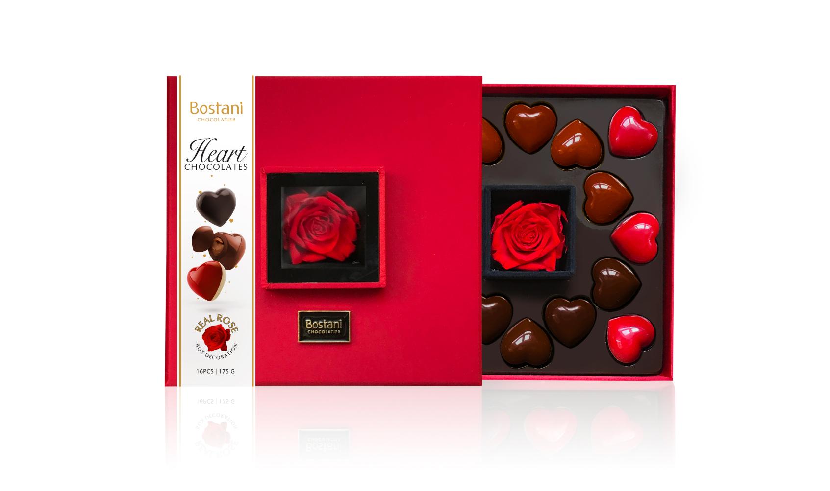Red Heart chocolate Box