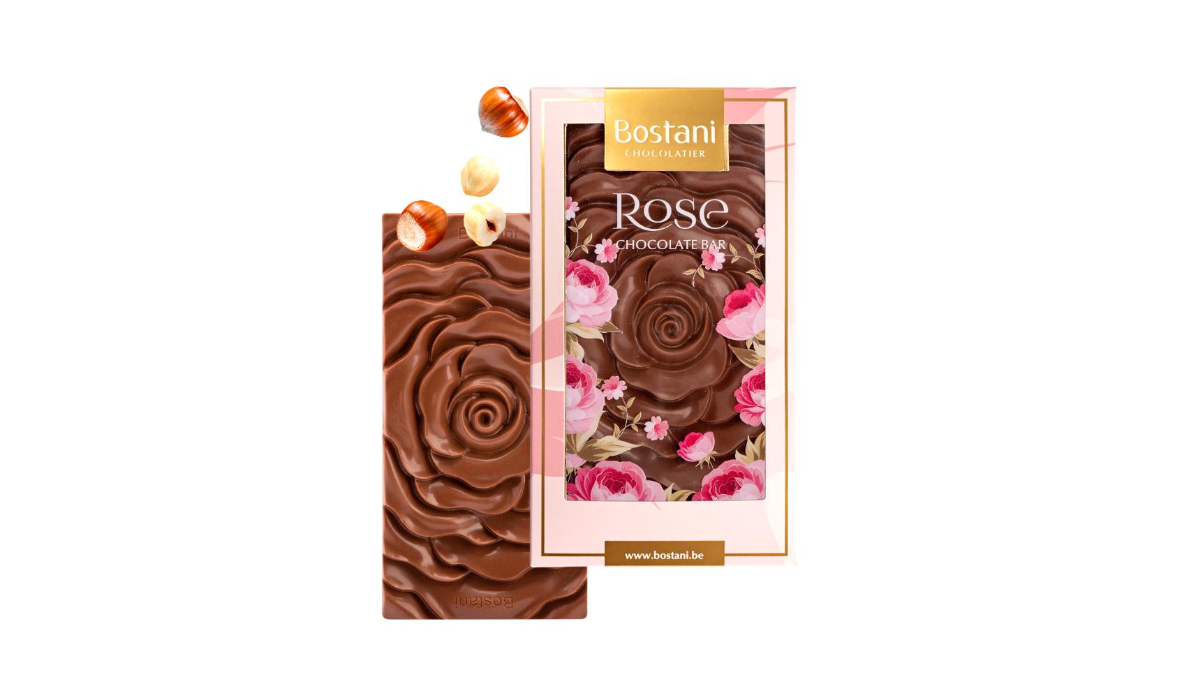 Rose Bar Milk Chocolate 100g