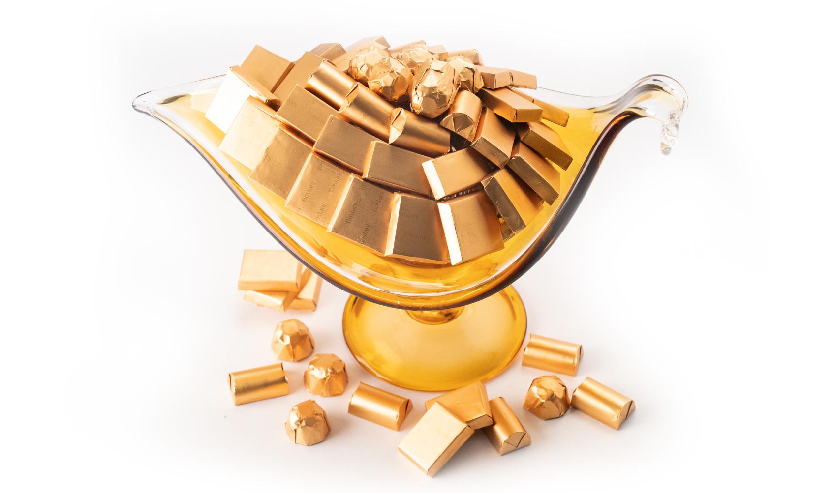 Mix Chocolate Lamp Glass Italian Handmade Dish