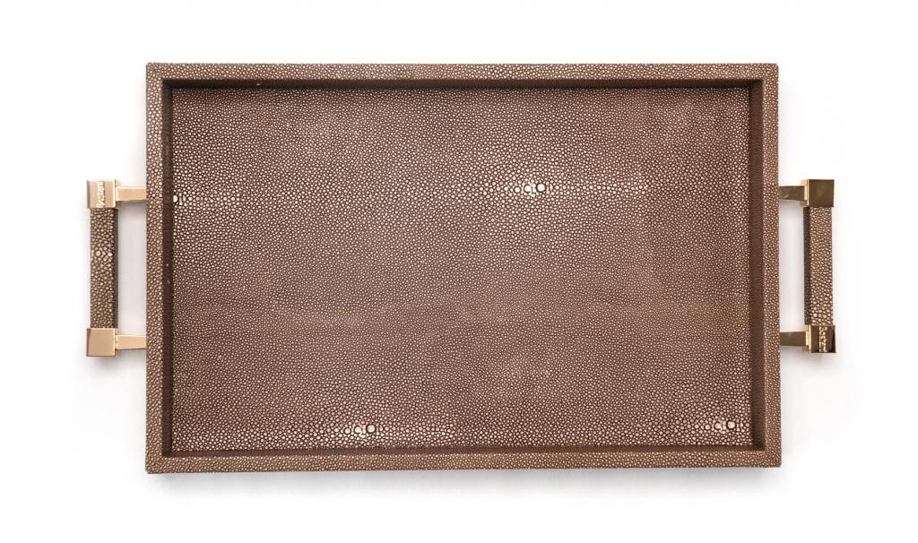 Get Well Soon Brown Tray Medium leathered
