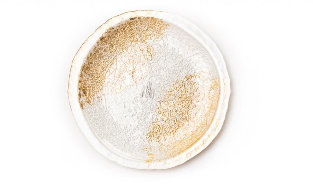 Congratulations Gold & White Dish Small