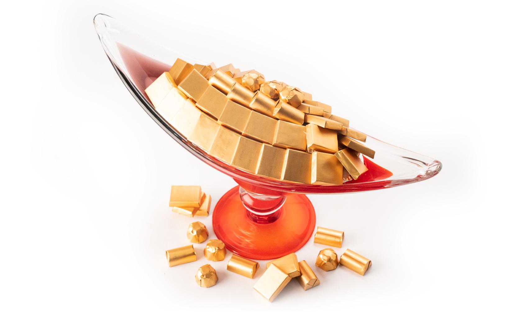 Mix Chocolate Long Red Italian Handmade Dish