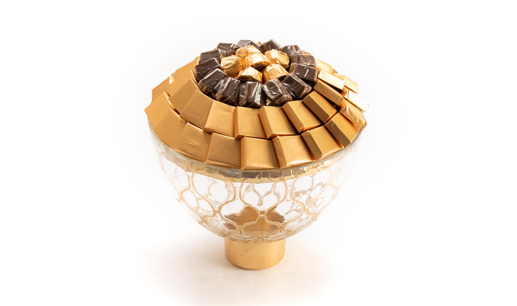 Mix Chocolate Gold & Transperent Dish