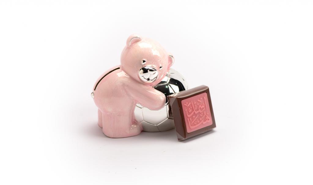 Money box bear Pink