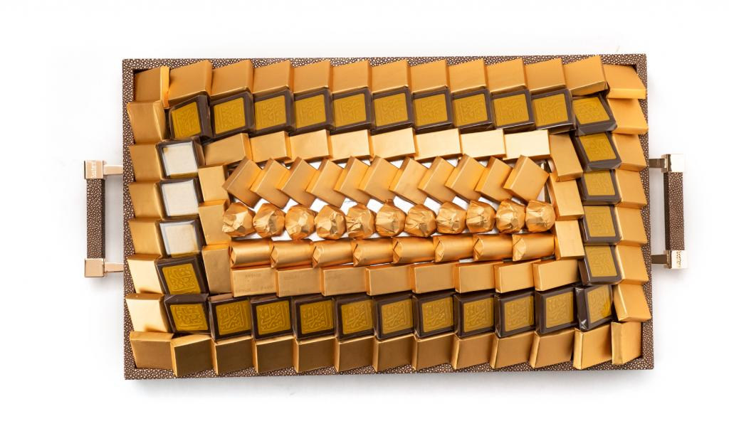 Congratulations Leathered Brown Tray Medium