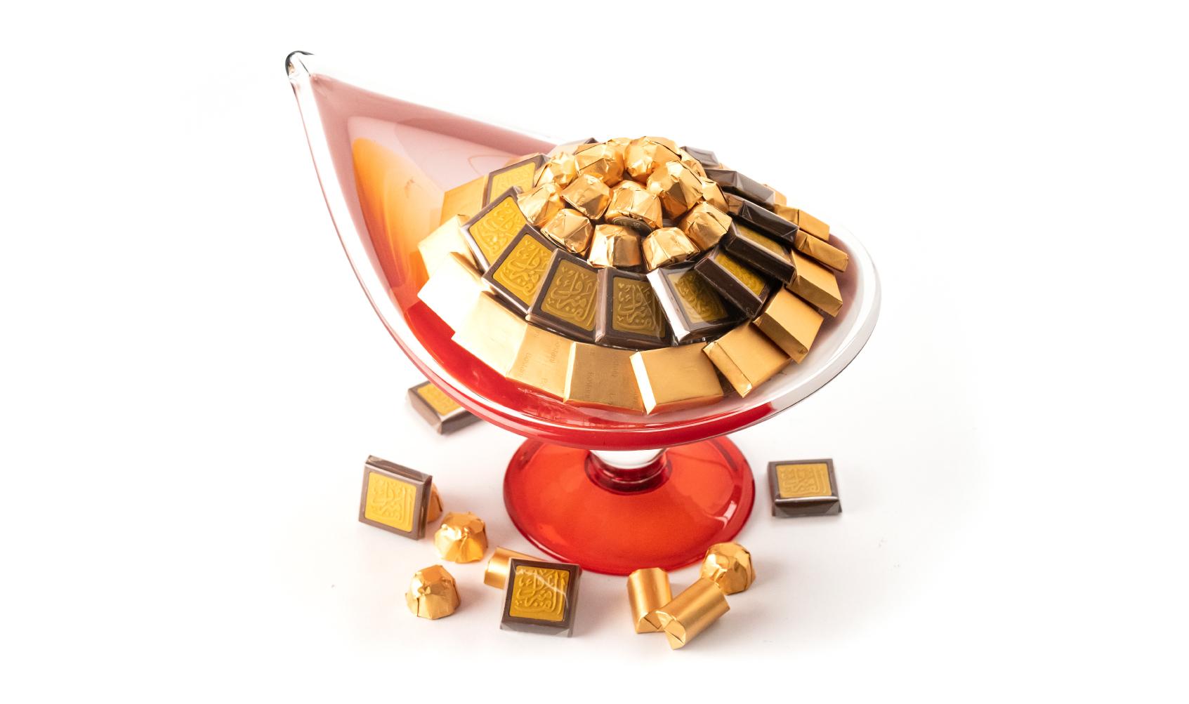 Congratulations Red Lamp Italian Handmade Dish