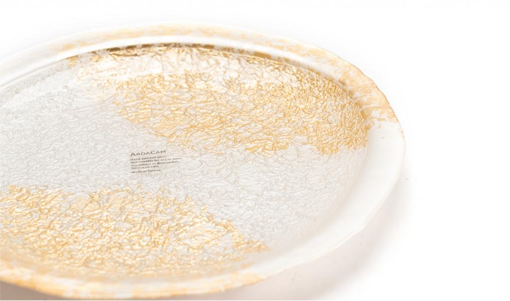 Get Well Soon Gold & White Dish Small