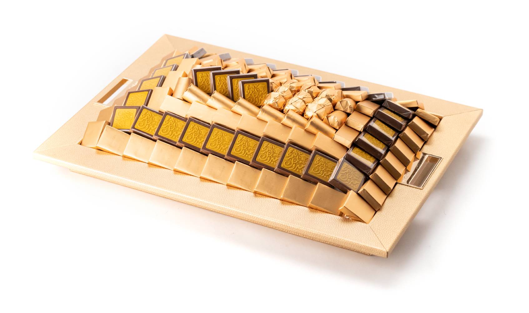 صينية جلد مبروك التخرج ذهبي وسط