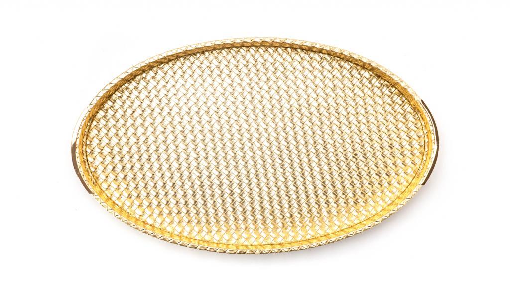 Congratulations Tray Small Gold Oval