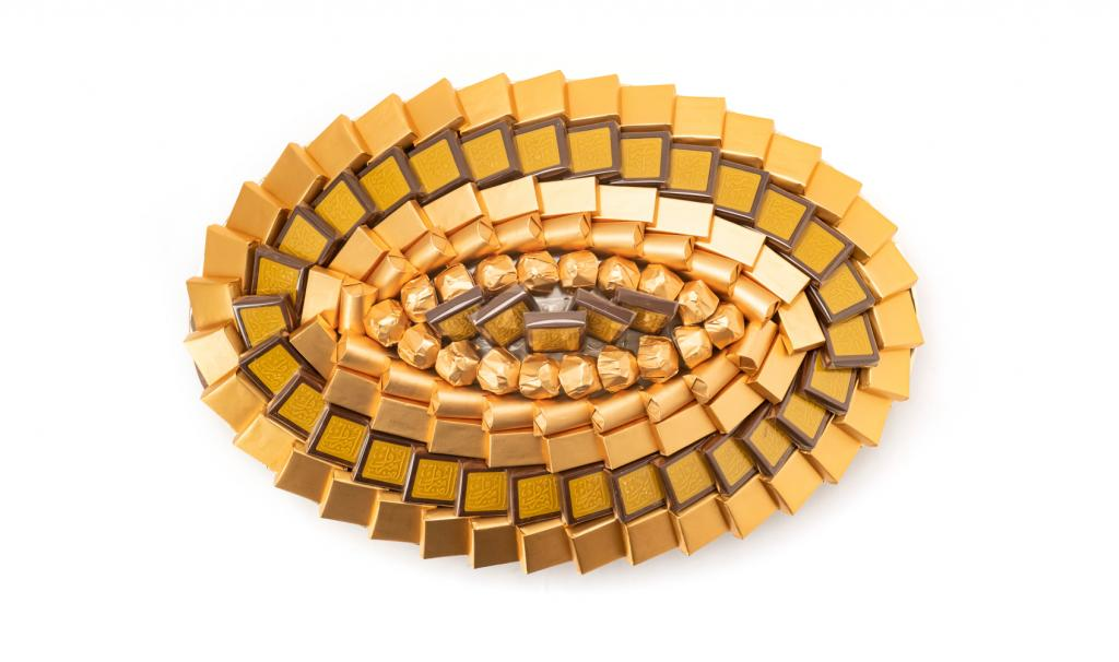 Congratulations Tray Medium Gold Oval