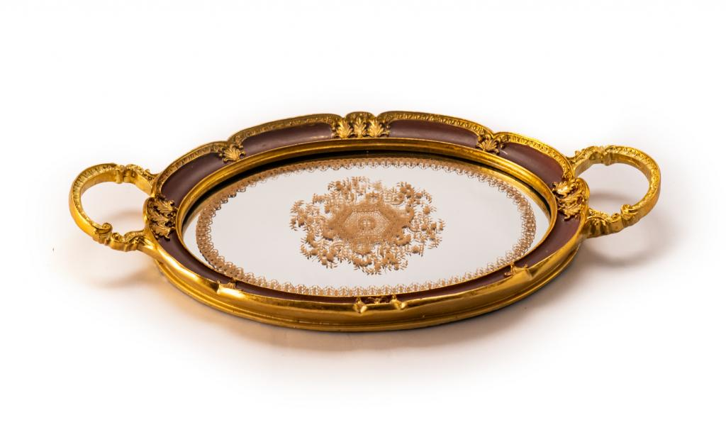 Get Well Soon Metal Tray Brown Small