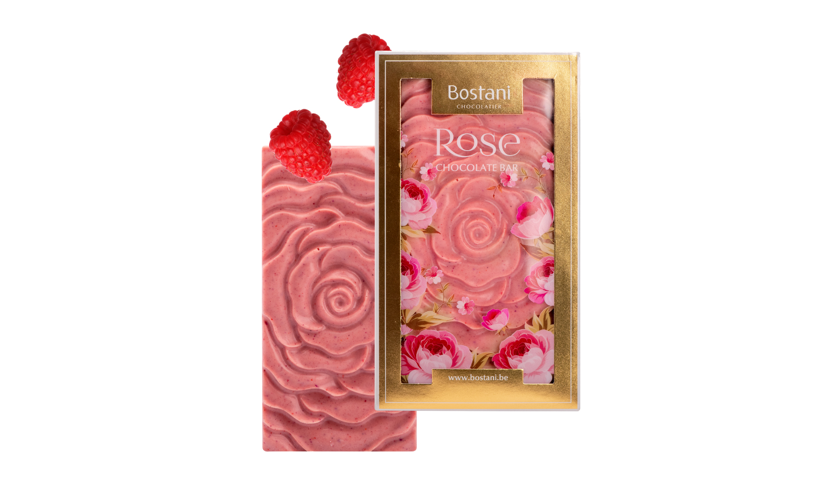 Rose Bar Milk Chocolate Rasberry