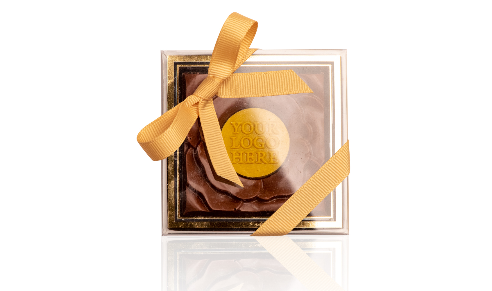 Rose chocolate Gold Frame