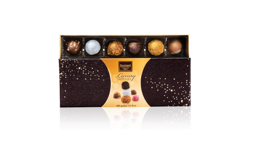 12 PCS Of Truffles Chocolate Inside Box