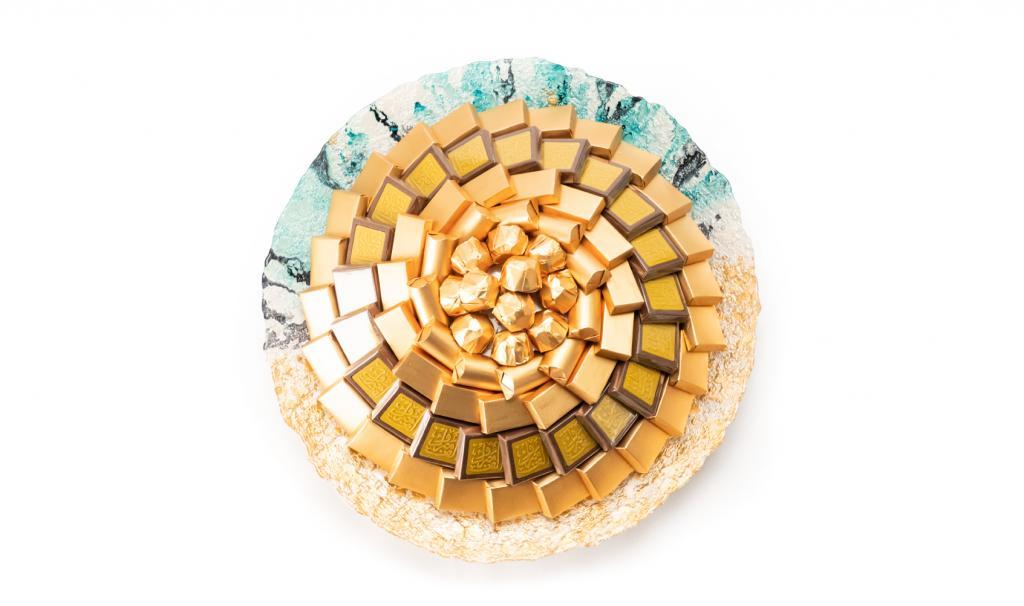 Congratulations Gold & Blue Dish