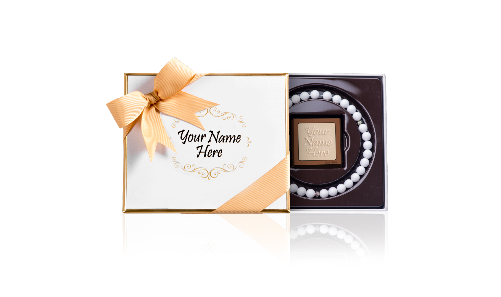 White rosary boxes