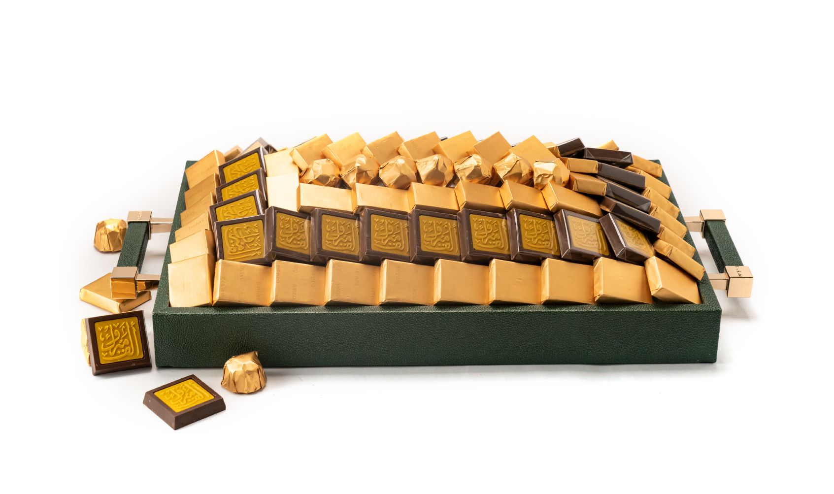 Congratulations Leathered Green Tray Small