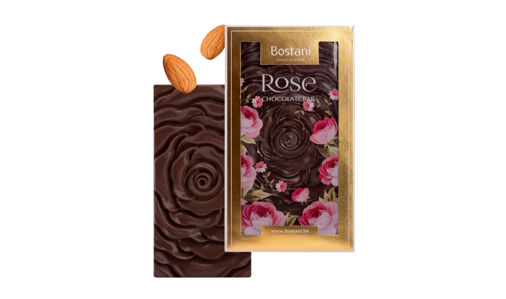 Rose Bar Dark Chocolate Almond