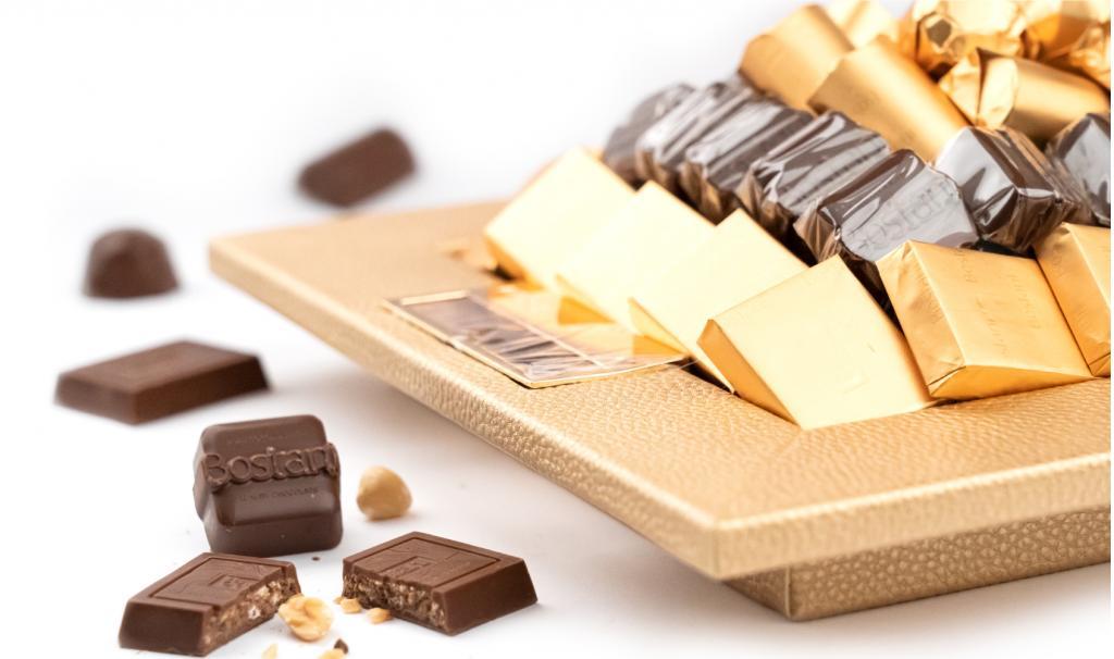 Leatherd Tray Small Mix Chocolate