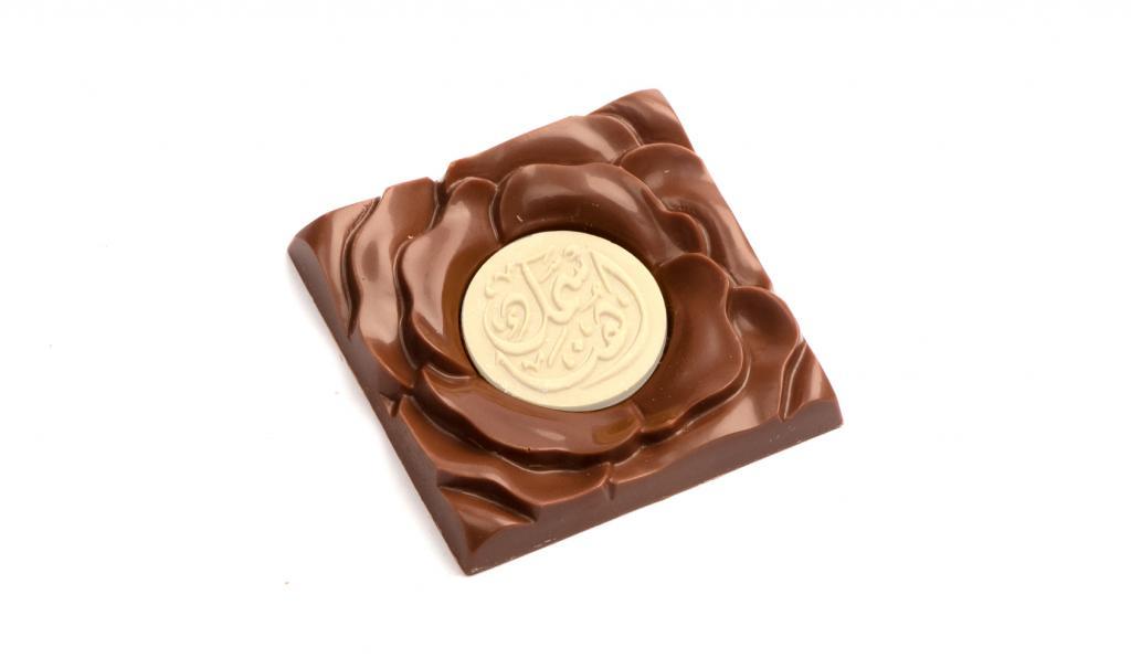 شوكولا الوردة إطار ورد ذهبي