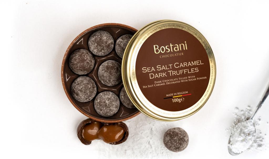 Dark Truffles With Sea Salt Caramel