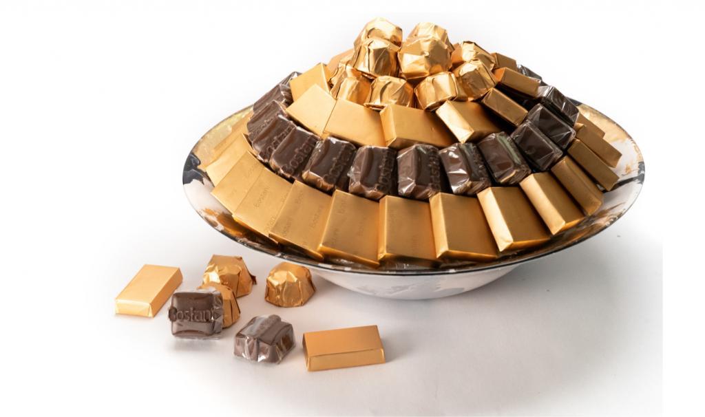 Mix Chocolate Gold & Blue Dish