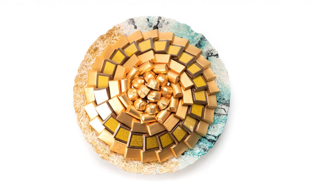 Get Well Soon Gold & Blue Dish