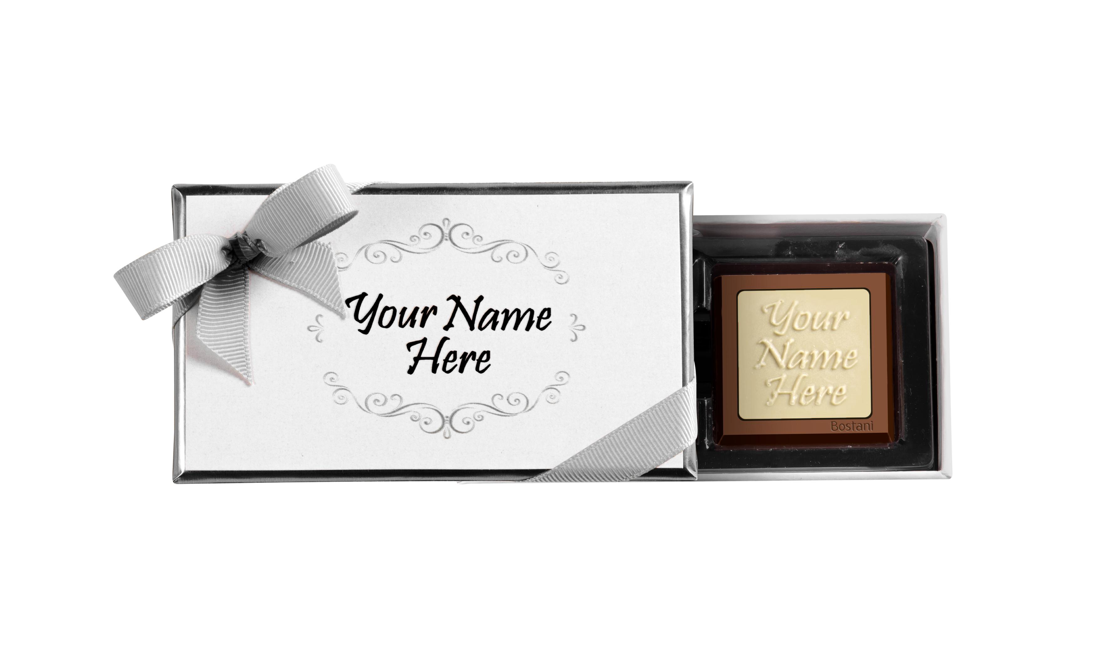 علية الهدايا (2 قطعة شوكولا) فضي